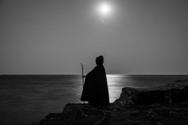 Lamorna Cove lit by The Full Moon. Image - John Isaac