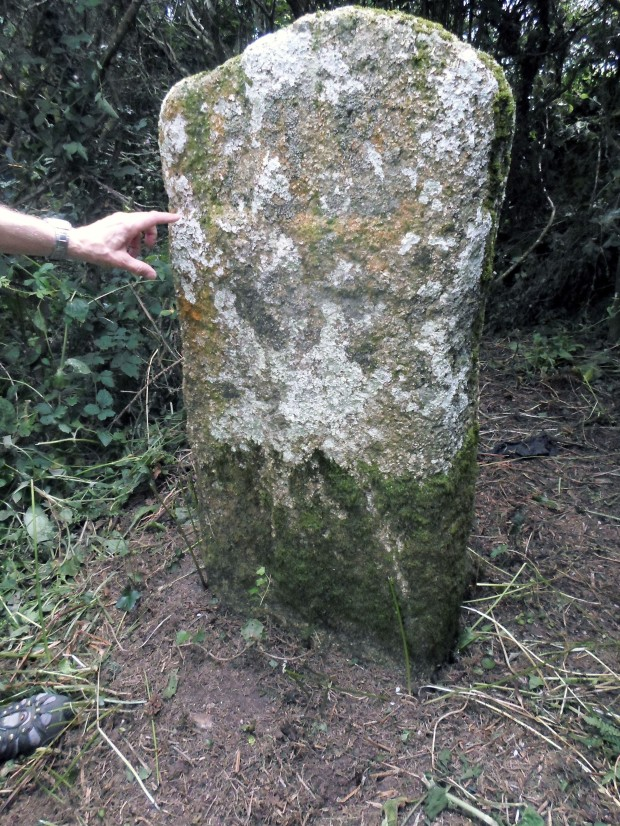A hidden cross at Tregurnow recently uncovered