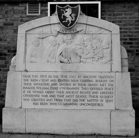 The Invicta Monument of Swanscombe. Image - Geograph