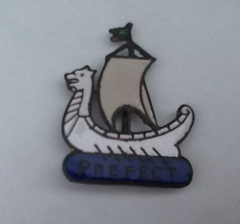 This was the Prefect badge I wore at school.